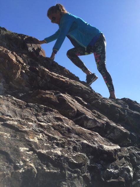 Today I climbed