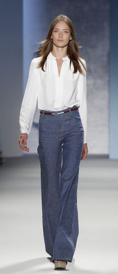 A model on the runway at Derek Lam's spring 2011 show.