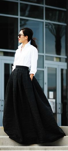 white shirt skirt 2