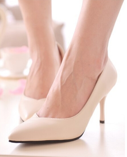 spisse New-2014-women-pumps-sexy-ladies-pointed-toe-9CM-high-heels-classic-party-wedge-shoes-brand