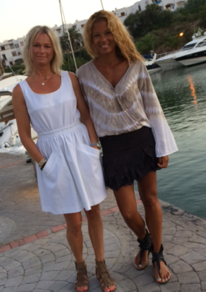 One beautiful feminin and one very relaxed…