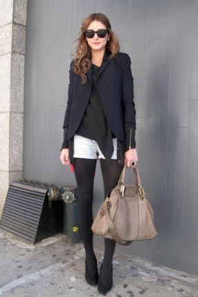 olovia-palermo-denim-shorts-black-tights