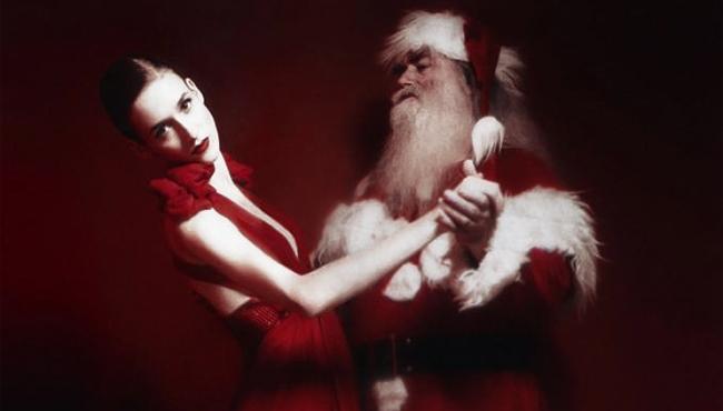Santa Claus (in white fur) - Man for the Holiday Season - Fur Fashion